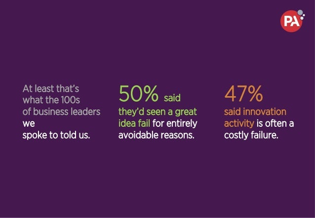 At least that's what the 100s of business leaders we spoke to told us. 50% said they'd seen a great idea fail for entirely...