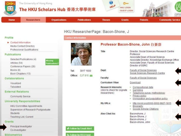 DSpace-CRIS@HKU: Achieving visibility with a CERIF compliant open source system