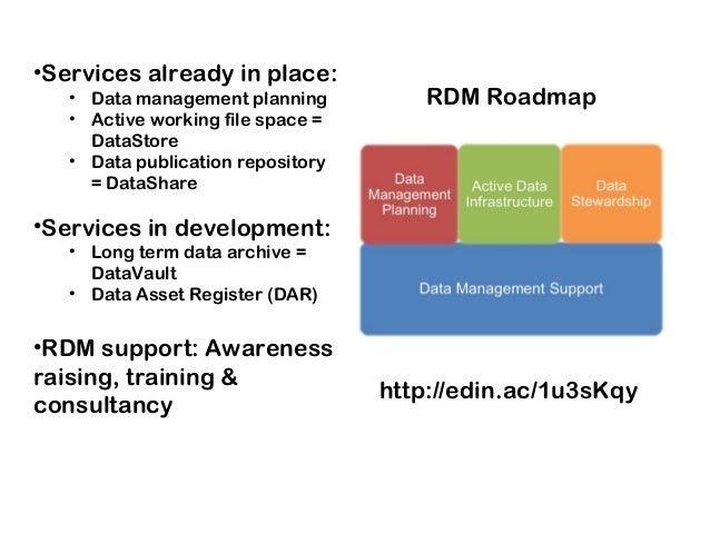DataShare & related Univ. of Edinburgh RDM services