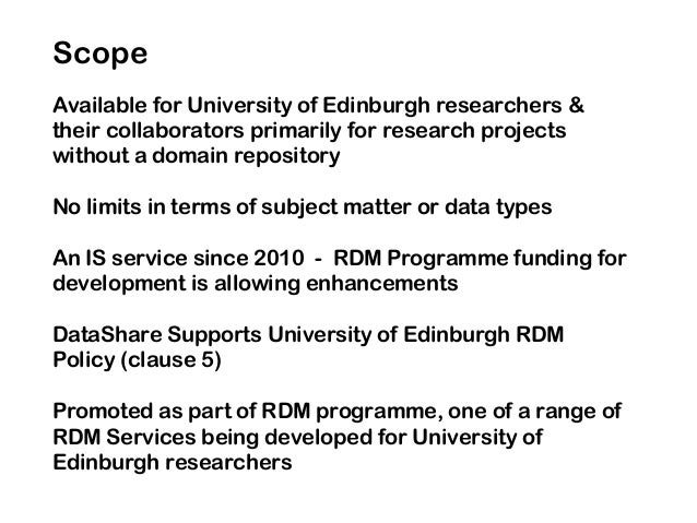 Available for University of Edinburgh researchers & their collaborators primarily for research projects without a domain r...