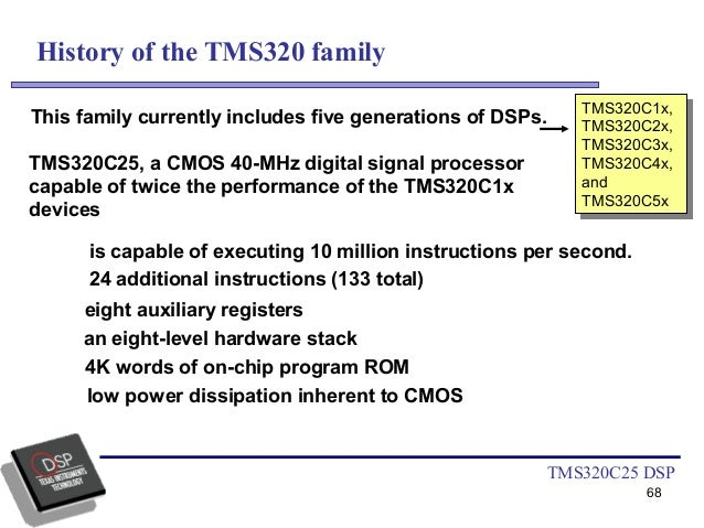 case study and overview of tms320 series processor