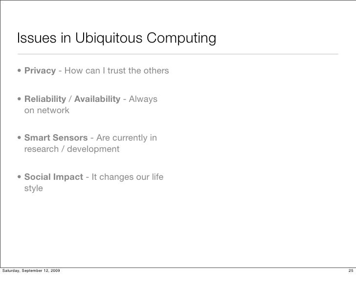 What Is Ubiquitous Computing ?
