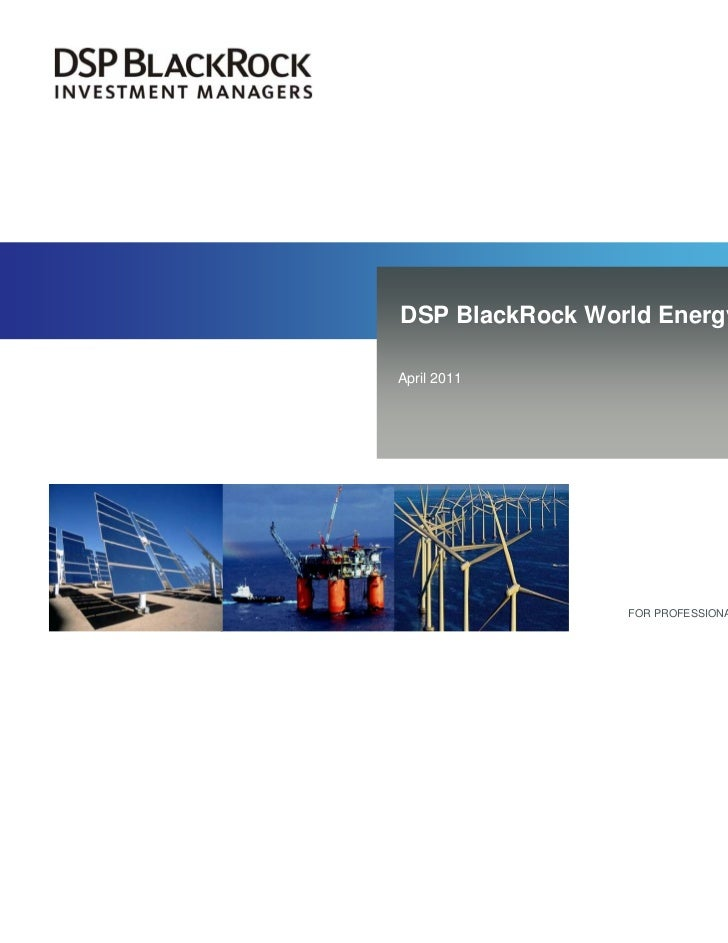 DSP BlackRock World Energy FundApril 2011                 FOR PROFESSIONAL INTERMEDIARIES ONLY