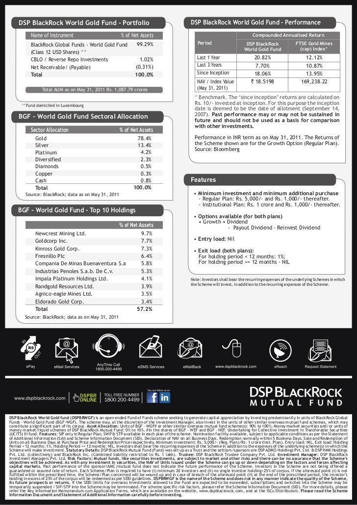 DSP BlackRock World Gold Fund  DSP BlackRock W...