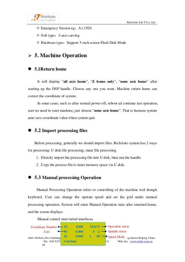 Dsp controller a11 manual