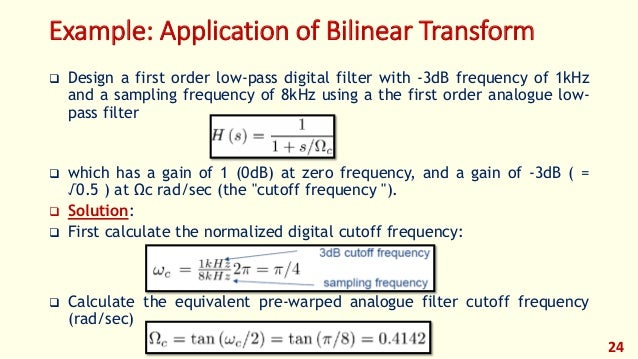 Digital filtering.