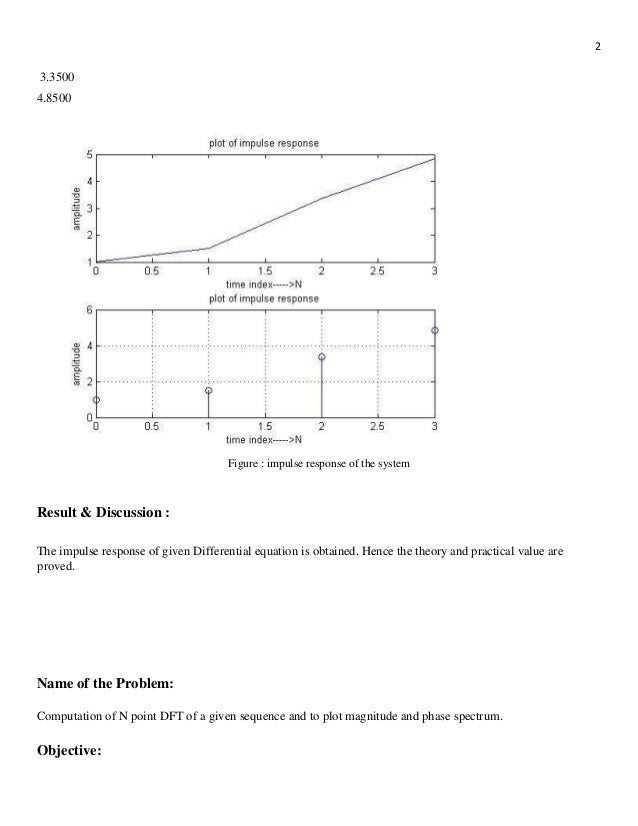 Digital signal Processing all matlab code with Lab report