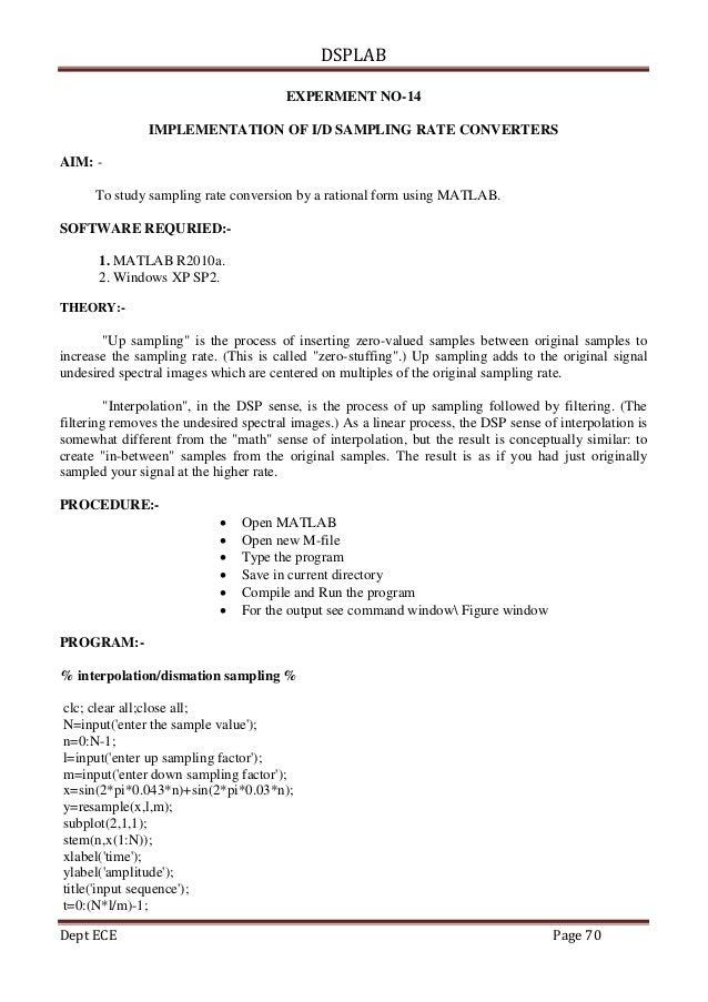 Dsp lab pdf