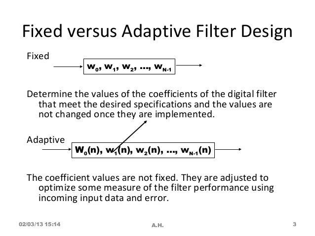 Adaptive filter Solution manual
