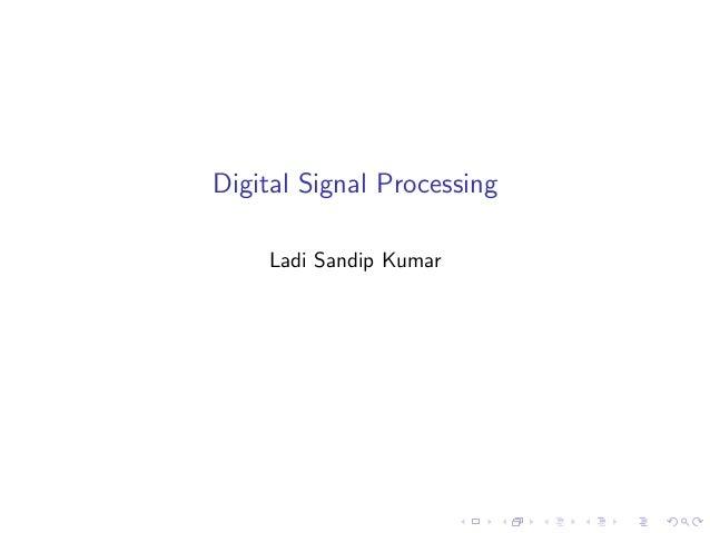 digital signal processing 1 638