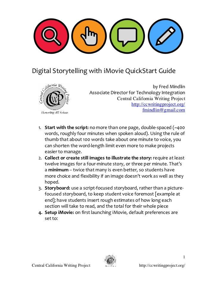 Digital Storytelling with iMovie QuickStart Guide                                                    ...
