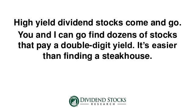 High yield dividend stocks for safety for High div stocks
