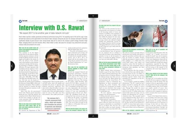 Interview with D S Rawat   Tele.Net Magazine