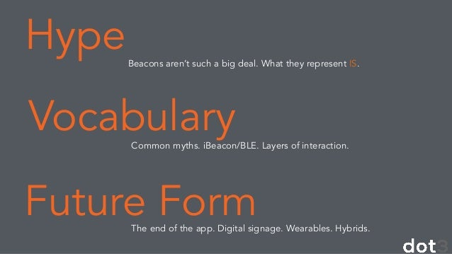 iBeacon, BLE and The Future of Engagement: Dsrupted Conference Slide 2