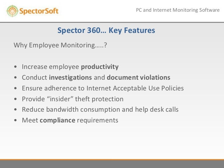 Dss Itsec Conference Spector360 As Productivity And