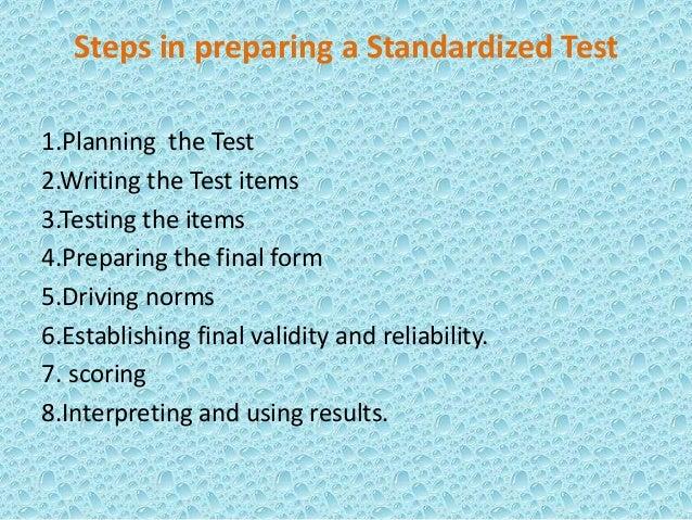 Teacher made vs standardized test slideshare