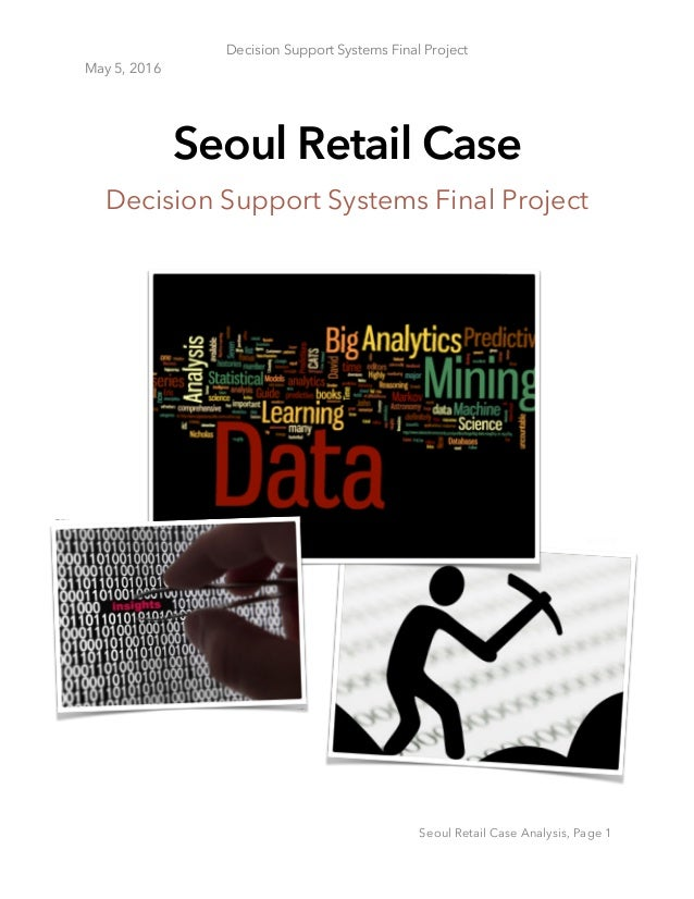 Predictive Analytics for Seoul Retail case study
