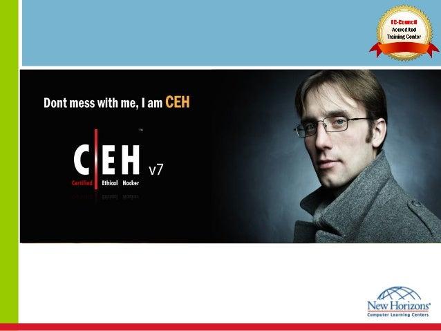 Agenda•   Demo: Hacking Windows Server 2008 Remote Desktop•   Certified Ethical Hacker v7 course overview•   EC-Council se...