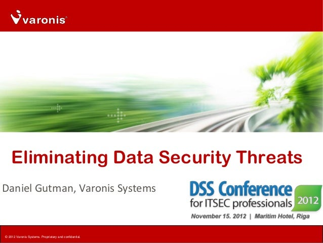 Eliminating Data Security ThreatsDaniel Gutman, Varonis Systems© 2012 Varonis Systems. Proprietary and confidential.