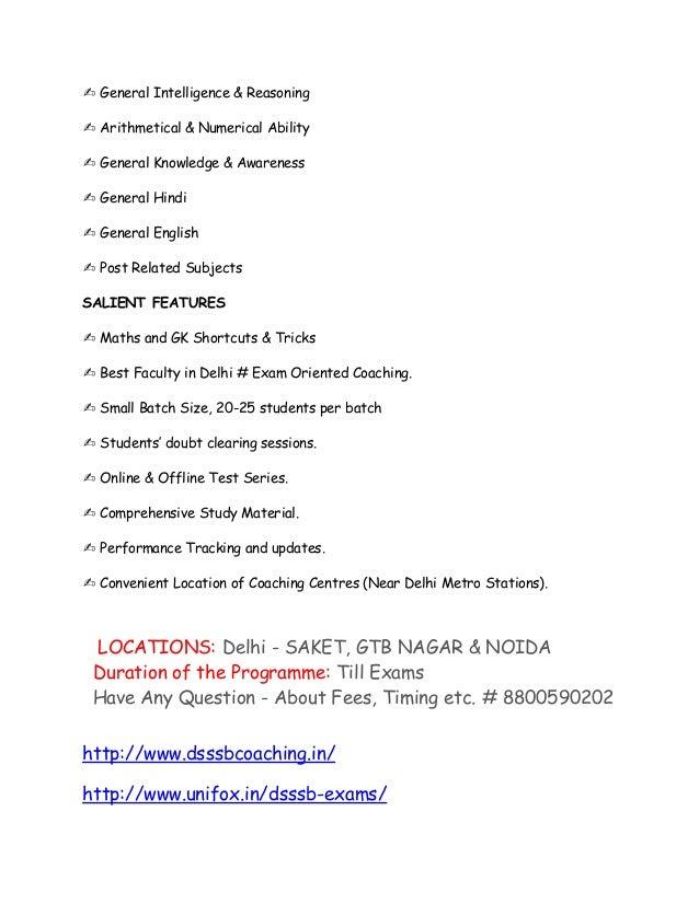 ✍ General Intelligence & Reasoning ✍ Arithmetical & Numerical Ability ✍ General Knowledge & Awareness ✍ General Hindi ✍ Ge...