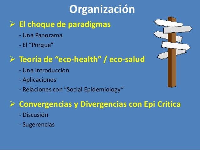"""Organización  El choque de paradigmas - Una Panorama - El """"Porque""""   Teoría de """"eco-health"""" / eco-salud - Una Introducci..."""