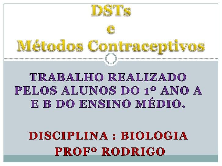 DSTs e Métodos Contraceptivos