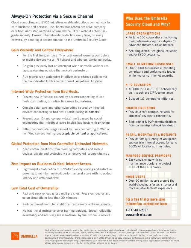 Datasheet: Umbrella Everywhere Solution Overview Slide 2