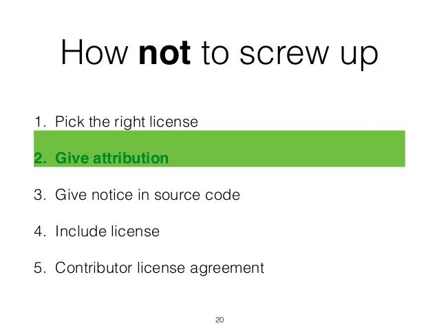 Dont Screw Up Your Licensing