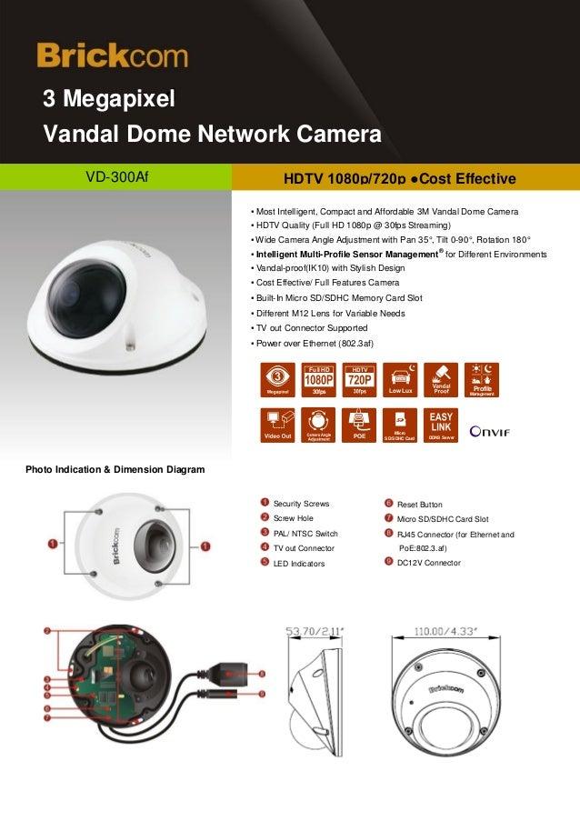 d   3 Megapixel   Vandal Dome Network Camera            VD-300Af                           HDTV 1080p/720p ●Cost Effective...