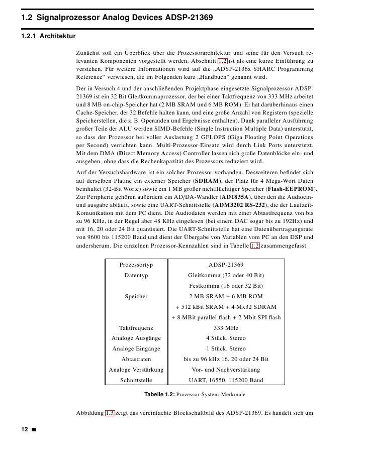 """eine """"Super Harvard-Architektur"""" (daher SHARC) mit SIMD-Funktionalität.                     Abbildung 1.3: Vereinfachtes B..."""