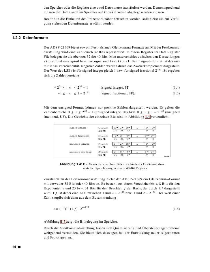 Abbildung 1.5: Gleitkomma-Formate für 32 bzw. 40 Bits                                                                   1....