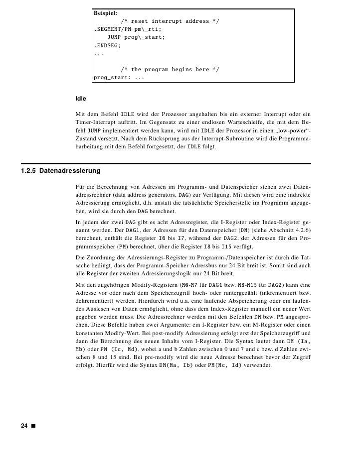 Beispiel:         1. Lade in R6 den Inhalt der Speicherstelle 0x0000C000 des Datenspei-            chers.                 ...