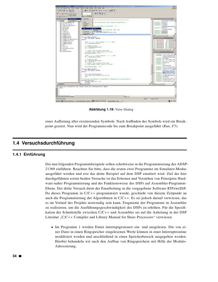 Abbildung 1.20: Project-Dialog      • Das Programm 2 zeigt die Anwendung von Befehlen für die parallele Verarbeitung      ...