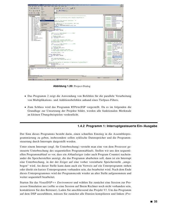 Abbildung 1.21: Register-Dialog        ject → Build Project oder F7) und dann die Programmausführung beginnen (Debug → Run...