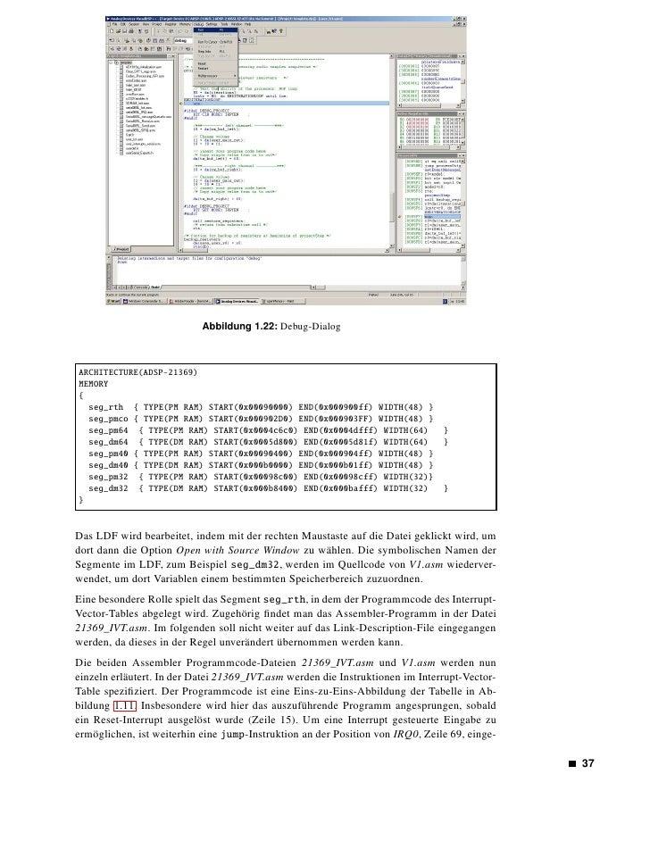 Abbildung 1.23: Settings-Dialog        fügt. Diese dient dem Aufruf der Funktion _convolution bei jedem Eintritt der Inter...