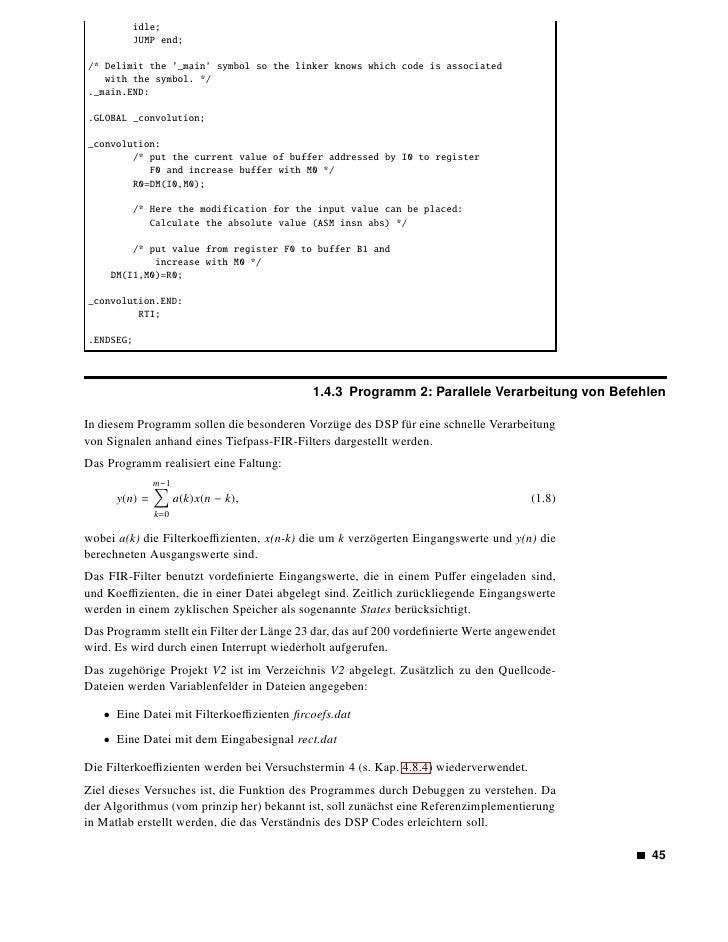 Aufgaben         • Vorarbeit: Laden Sie die Datenfelder in den Dateien fircoefs.dat und rect.dat als FIR          Filterkoe...