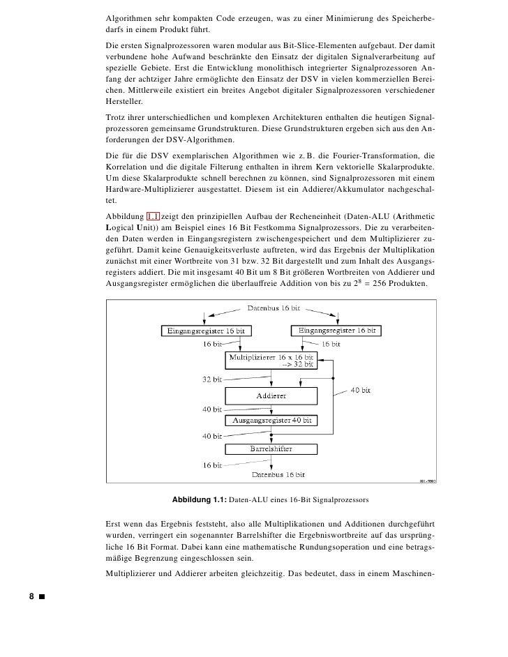 zyklus die Werte aus den Eingangsregistern multipliziert werden können und das Ergebnis des Multiplizierers im Addierer ve...