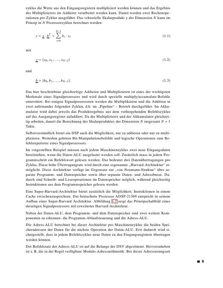 Abbildung 1.2: Prinzipielle Architektur eines digitalen Signalprozessors                                (DSP)        erzeu...