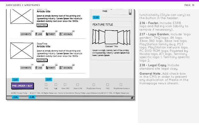 darksiders video game wireframes rh slideshare net Wireframe Diagram for a Store Sample Wireframe Diagram