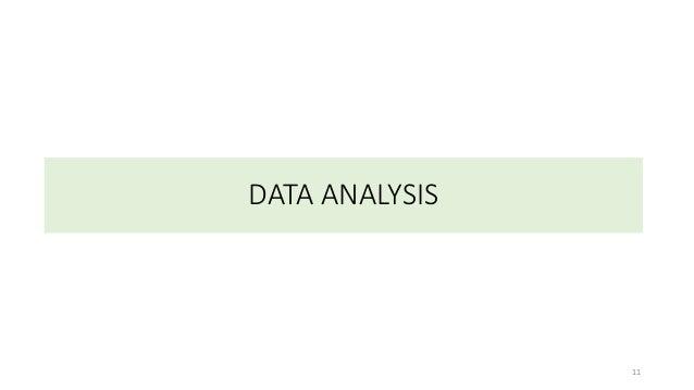 DATA ANALYSIS 11