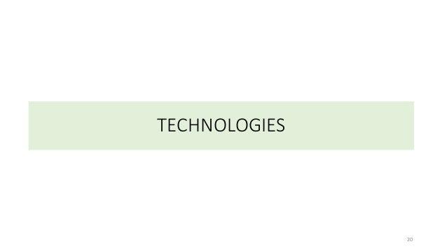 TECHNOLOGIES 20