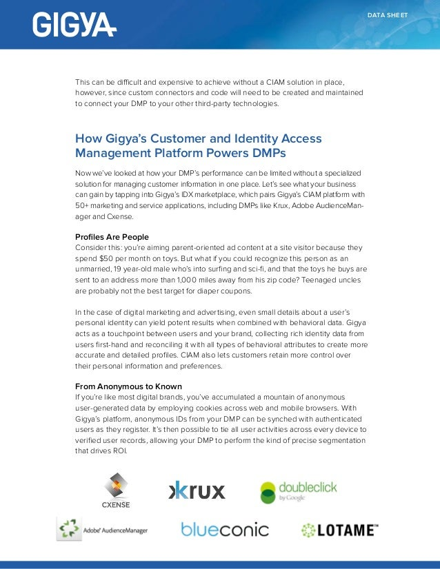 Data Sheet: Why Your DMP Needs CIAM