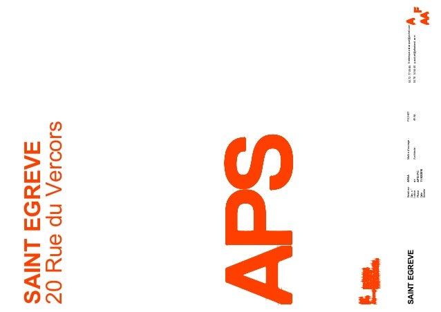 Emetteur Doc.n° Indice Phase Date Échelle AFAA or APS/PC 11/02/2016 SAINTEGREVE 20RueduVercors SAINTEGREVE PICHET AFAA0478...