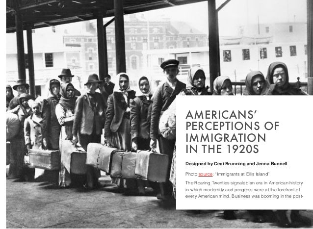 Americans' Perceptions of Immigration in the 1920s by Ceci ...