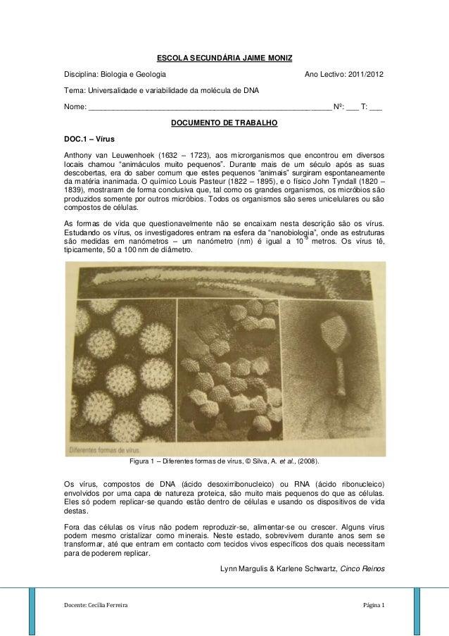 ESCOLA SECUNDÁRIA JAIME MONIZDisciplina: Biologia e Geologia                                                         Ano L...