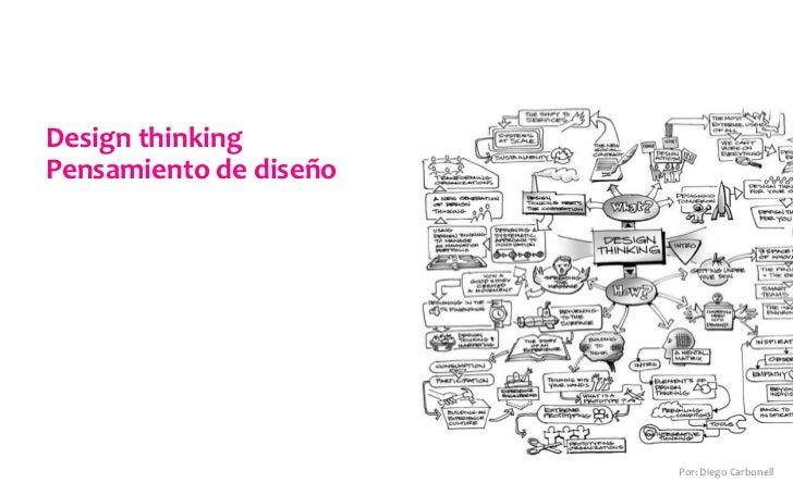 Design thinking Pensamiento de diseño                                   Por: Diego Carbonell