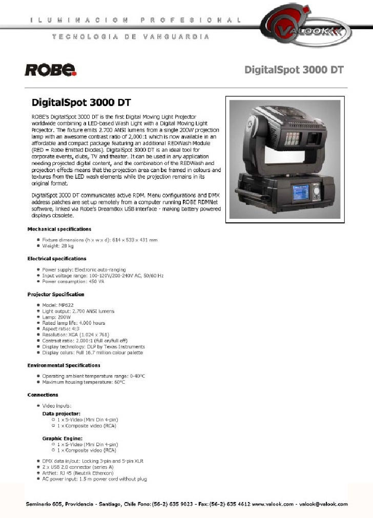 Manual DT 3000 ROBE