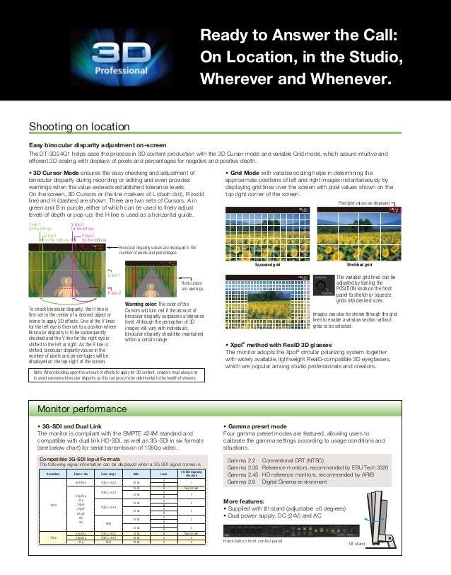 JVC DT-3D24G1 Monitor Brochure Slide 2