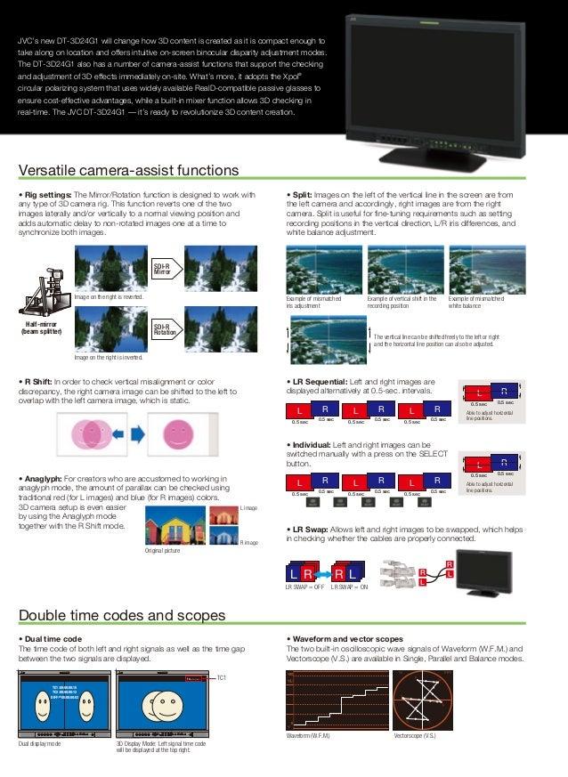 JVC DT-3D24G1 Monitor Brochure Slide 3