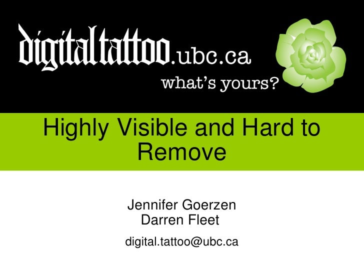 Digital Tattoo Workshop for UBC Arts Co-op Student Association This activity sheet is for use with the slideshow presentat...